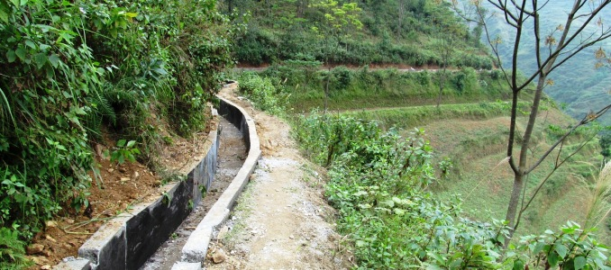 Irrigation canal, Pa Lang village, Nghia Thuan commune, Quan Ba district, Ha Giang province, Vietnam. Photo: Pham Quang Hoa