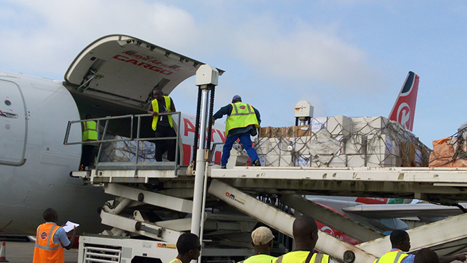 Ireland airlifts emergency supplies to Freetown, Sierra Leone for victims of the mudslide and floods. Credit: Concern