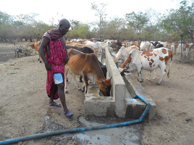Irish Aid supports Pastoralists in Tanzania to better cope with drought caused by a changing climate through providing climate change training and a source of water for their cattle. Photo: John Joseph Coba
