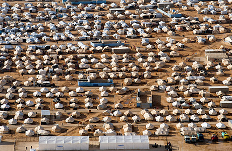 UN photo Jordan Syria cross border refugee camp