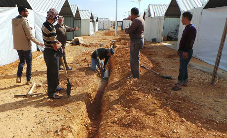 Irish Aid improves water services to Syrian refugees in Azraq camp