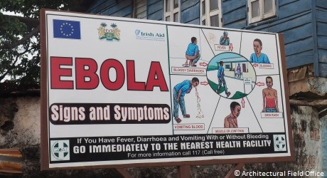 Irish Aid sponsored Ebola Virus Signs and Symptoms public awareness campaign. Photo: Killian Doherty / Architectural Field Office