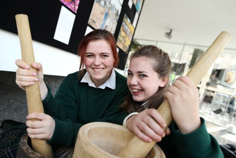 Loreto College Swords at the Irish Aid Centre