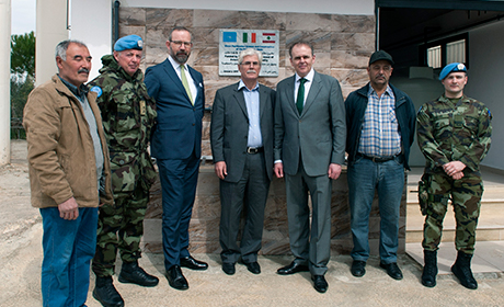 MOS McHugh with officials from various UN agencies at the Za'atari camp in Jordan
