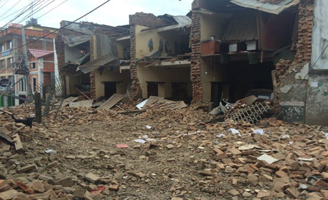 Photos of eqrthquake in Nepal