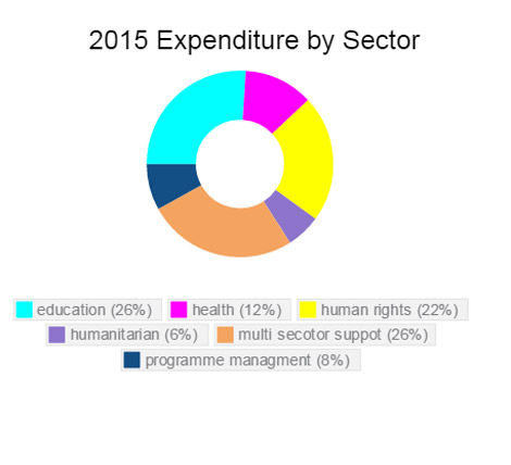 Expenditure by sector Uganda 2015