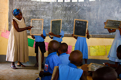 A primary school class in Kasese area of Uganda