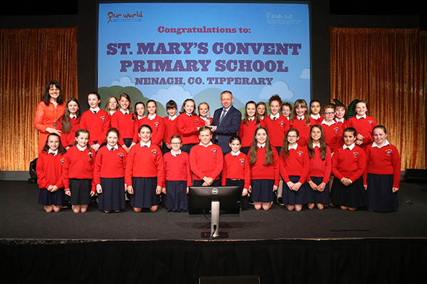 St. Mary's Convent Primary School, Nenagh win the 2018 Our World Irish Aid Award