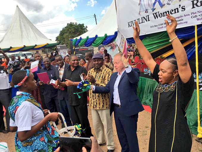 Minister of State Cannon at Launch of Kivulini Programme on the 17th of October 2017. Photo: Irish Aid